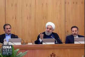 روحانی: اعتراض حق مردم است اما حساب اعتراض از اغتشاش جداست/ قیمت بنزین بین 5500 تا 6 هزار تومان است/ طرفدار بنزین تک نرخی هستیم