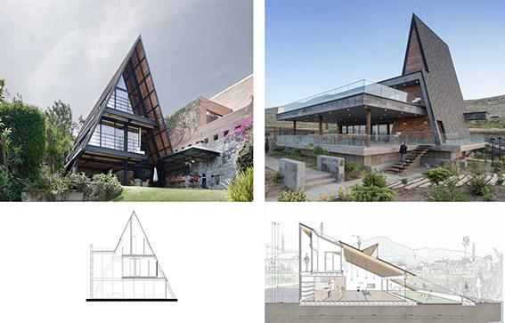 سقفهایی که نقش دیوار را در طراحی نما بازی میکنند!