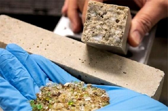 تولید بتن ارزان از خرده شیشه