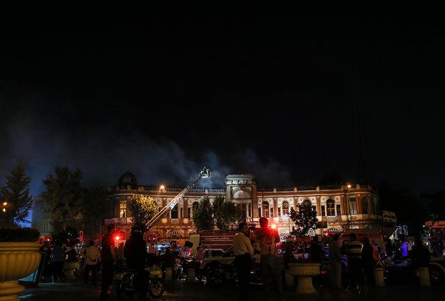 خسارت  50 درصدی آتش به ساختمان های تاریخی حسن آباد + عکس