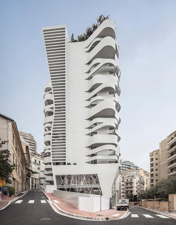 """برج """"le stella"""" از ژان پیر لوت، نمایی سیال و روبان مانند در موناکو"""