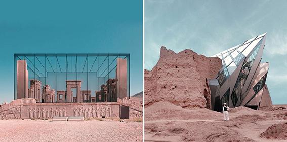 بناهای شاخص معاصر در دل بناهای باستانی ایرانی قرار میگیرند