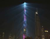 نمای بلندترین آسمانخراش جهان فروخته میشود