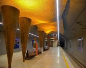 ثبت ملی بزرگترین سازه فلزی موجی معلق متروهای کشور در ایستگاه وکیلالرعایا شیراز