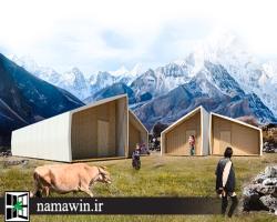طرح برگزیده مسابقه طراحی مسکن موقت برای زلزلهزدگان